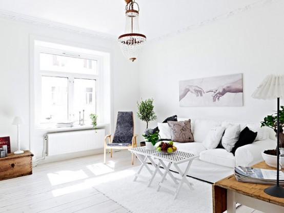 White Swedish Apartment Interior Designs 2012 Trends Brave Home Design  Wallpaper   Gallery Interior Design Shabby Part 70